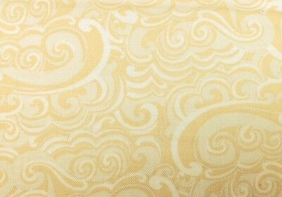 100/% Cotton Premium Quilt Fabric-Per 1//2 Yard Kanvas CABANA IVORY