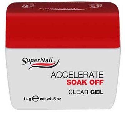 SuperNail Accelerate Soak Off Clear Gel - .5oz - 51584
