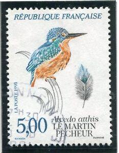 Symbole De La Marque Stamp / Timbre France Oblitere N° 2724 Faune Martin Pecheur