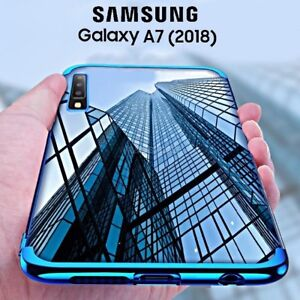 COVER-per-Samsung-Galaxy-A7-2018-CUSTODIA-Tpu-ORIGINALE-ELECTROPLATING-SLIM-Case