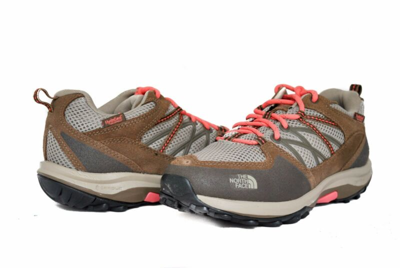 North Face Donna Storm Fastpack Wp In Dune Beige W/fiesta Rosso Taglie 10 Nuovo