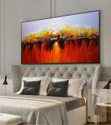 YA457 Home decor 100/% hand-painted Abstract Scenery oil painting on canvas