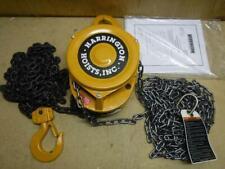 New Harrington Cf015 15 Manual Chain Hoist 3000 Lb 15 Ft 1 516 Hook Opening