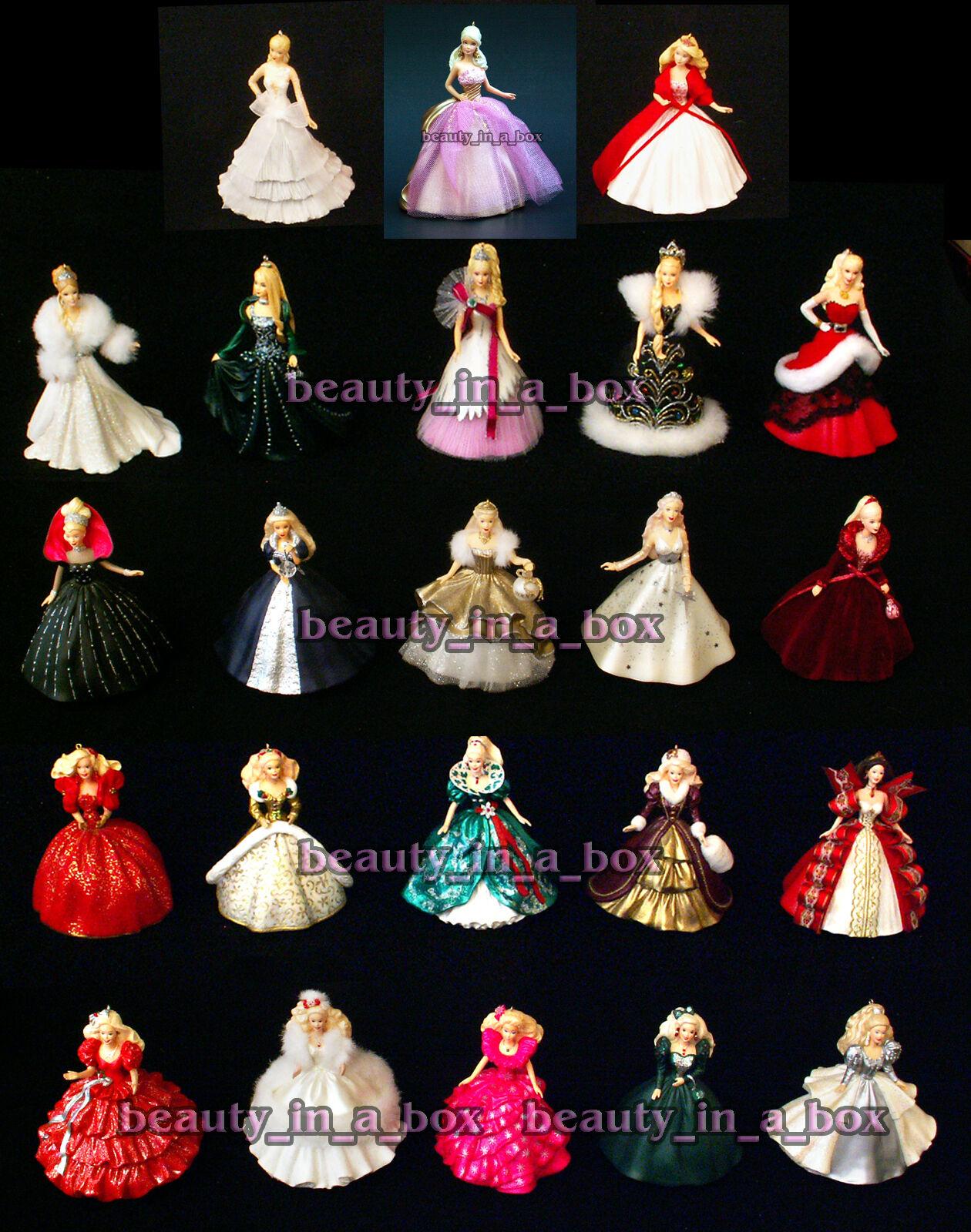 Celebración de Barbie Muñeca Ornamento de Vacaciones Hallmark 1988 - 2010  2009 2006 1992