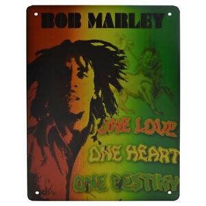 La pubblicità in lamiera SCUDO 20x30 cm Retro Bob Marley Vintage Garage Officina