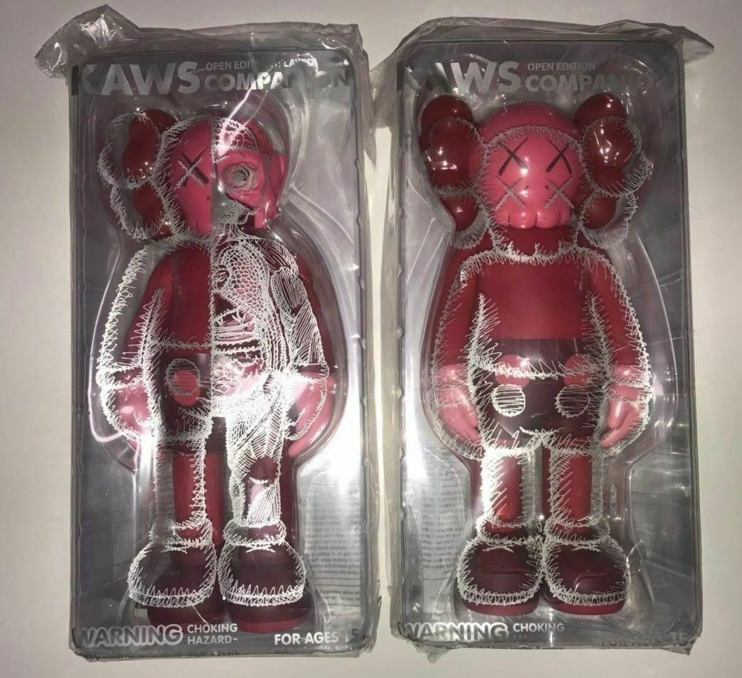 KAWS KAWS KAWS Companion Flayed + bluesh Set Red Toy 2019 Official Authentic Sold Out Print b6df83