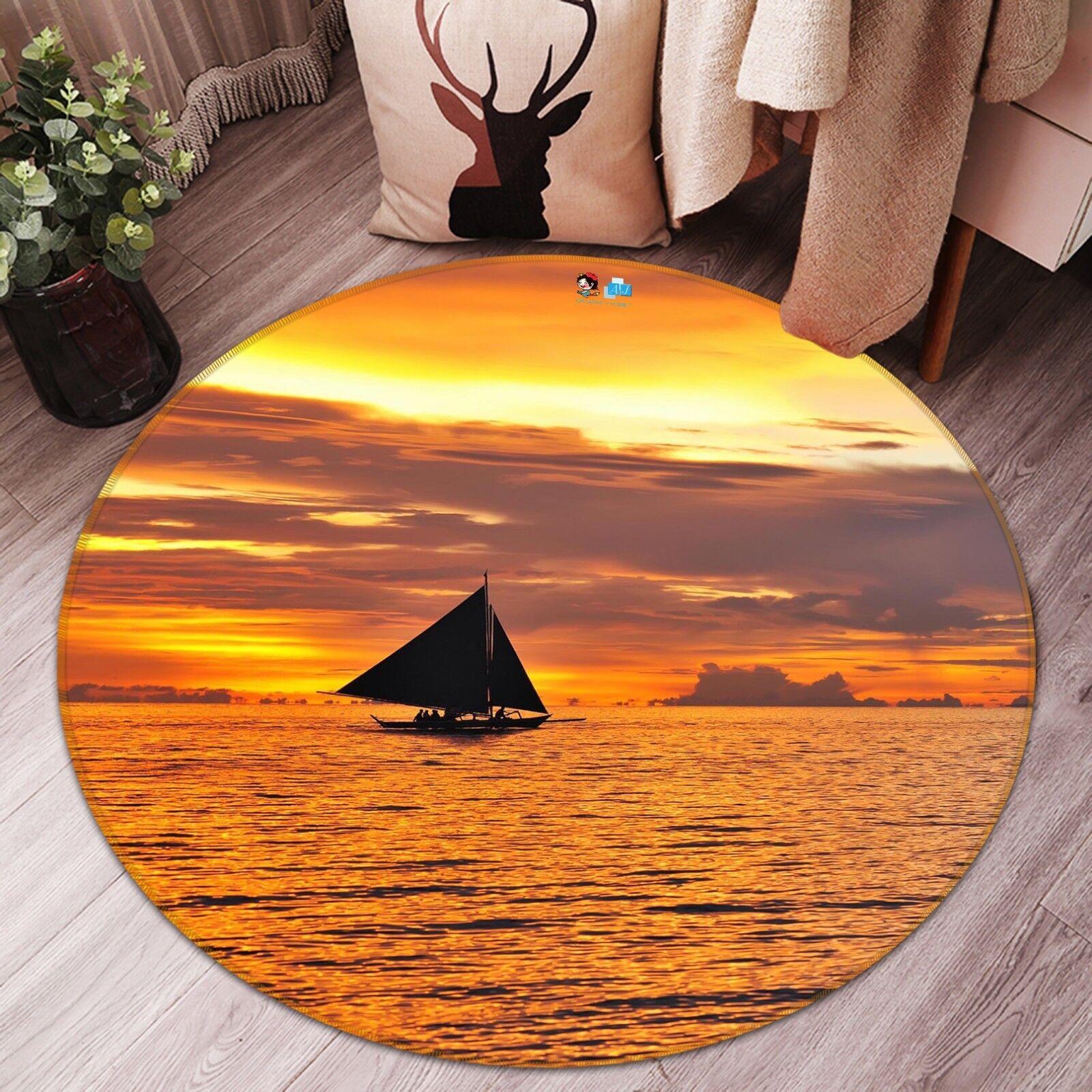 3d mar crepúsculo 52 antideslizante alfombra de maletero rondas elegante alfombra