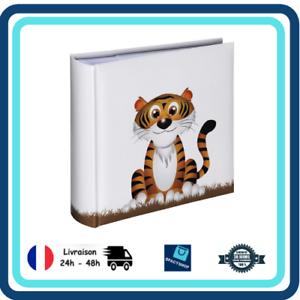 Motif Tigre 22,5x22,5cm Album Photo Mémo 100 Pages pour 200 Photos Format 10x15