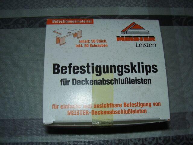 50 x Meister Befestigungsklips für Deckenabschlussleisten