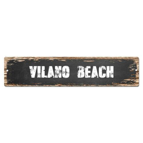 SP0380 VILANO BEACH Street Sign Bar Store Cafe Home Kitchen Chic Decor Gift