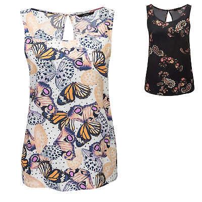 NEU Vero Moda Damen Trägertop mit Spitzenbesatz Slip Top Blusen Tunika Color Mix