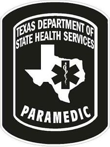Texas Paramedic Reflective Decal Sticker Paramedic Firefighter Rescue EMT EMT