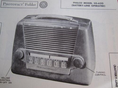 PHILCO 50-620 RADIO PHOTOFACT