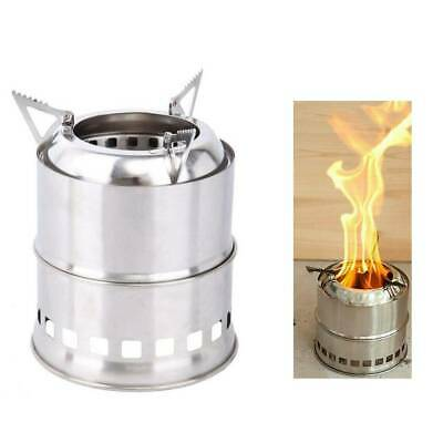 Portable Outdoor Wood Stove Survival Wood Burning Camping Stove Stainless