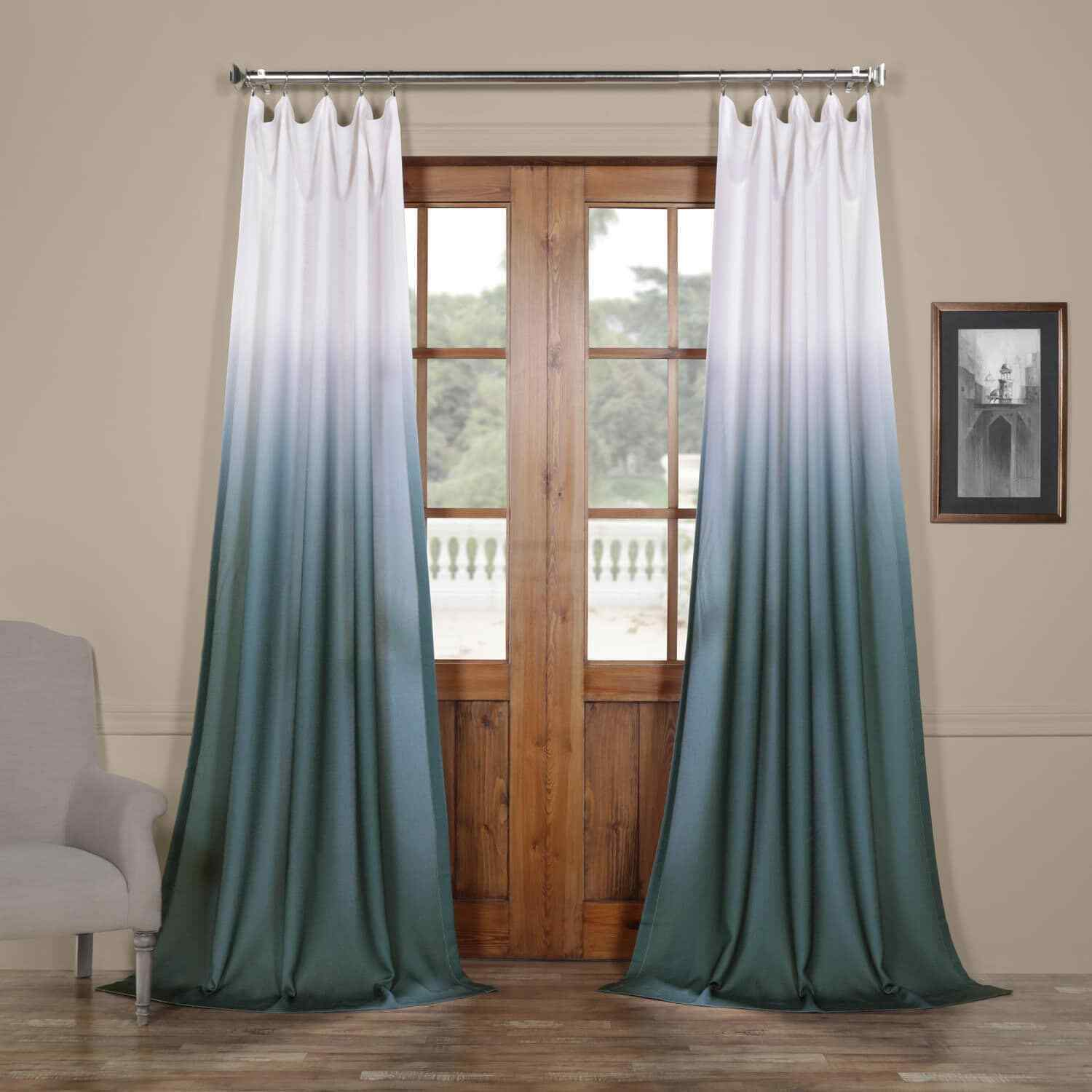 Mountain Olive Green 108 X 50 In Faux Linen Semi Sheer Curtain Single Panel For Sale Online Ebay