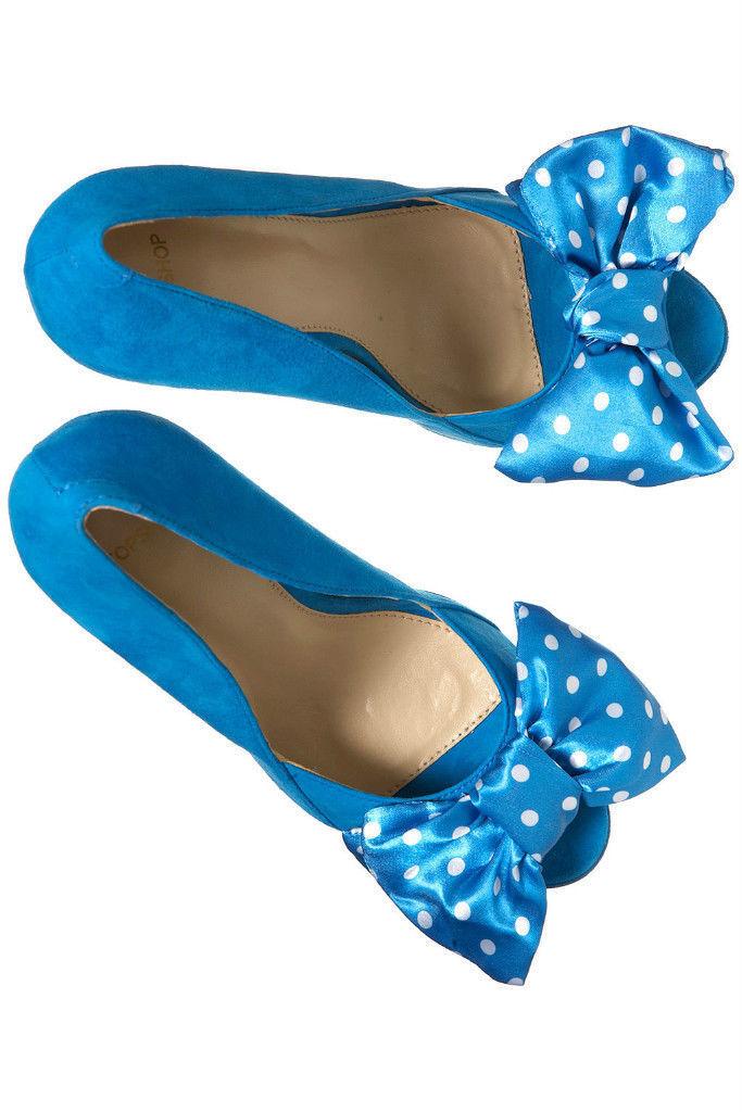 Topshop bluee Polka Dot Peeptoe Platform Sandal Heels Heels Heels UK 3 EURO 36 US 5.5 AUS 6 5adef7