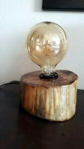 Lampada Da Tavolo Artigianale Legno Ebay