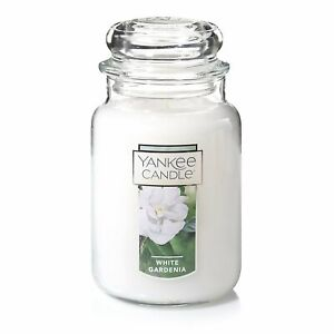 ☆☆WHITE GARDENIA☆☆ LARGE YANKEE CANDLE JAR~FREE SHIPPING☆☆FLORAL SCENT