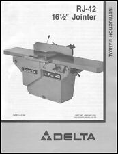 Delta RJ-42 Jointer Instruction Manual 16 & 1/2 Inch