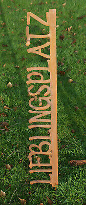 Beetstecker Lieblingsplatz Edelrost Rost Deko Gartenstecker 100 cm Gartendeko