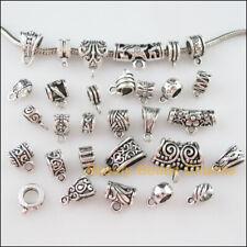 "25pcs Silver tone /""Cheer/"" European Bail Beads 10x11mm hole size:4.5mm"