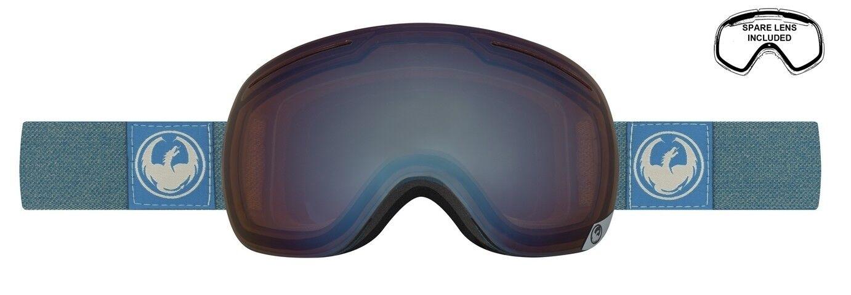 NEW Dragon X1 Hone bluee Lumalens Mens Frameless Large Goggles + lens Msrp