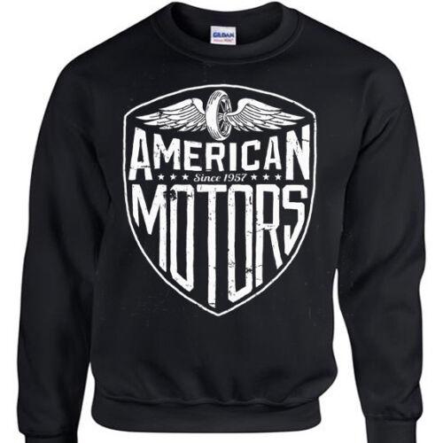 Männer Frauen der Sweatshirt Pullover Motorrad der Distressed amerikanischen Rock Bewegungs Biker OvI8qCRw8x