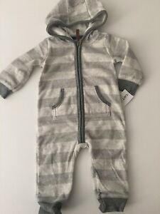 499ecec16 Carters Baby Boy Fleece Hooded Coverall Size 9 12 18 24 Months ...