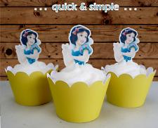 Disney Princess Snow white half body EDIBLE wafer Cupcake Toppers cake