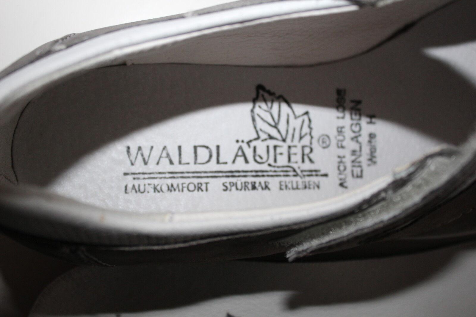 WALDLÄUFER Slipper Ballerina Schuhe echt echt Schuhe Leder Halbschuhe Gr.37 UK 4 grau TOP 835268