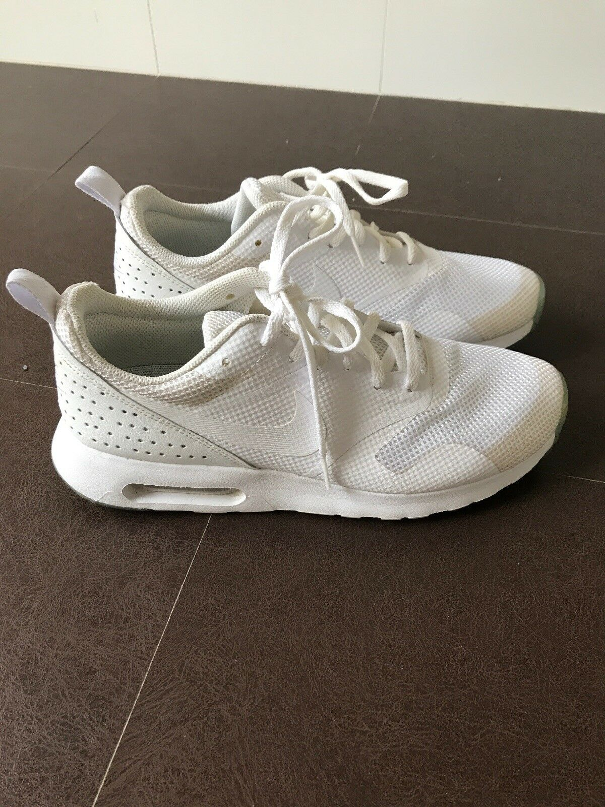 Nike Air Max Tavas Men's Casual Shoes All White Size US 8.5