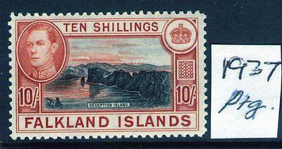 Sg162 Leicht Klappbar Und Geprüft UnabhäNgig Falkland Inseln George Vi 10 37 Ptg Falklandinseln
