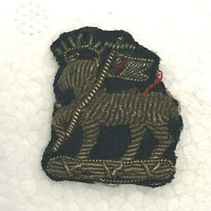 Boer-War-Era-Queens-West-Surrey-Regiment-officers-Bullion-Collar-Badge-Genuine