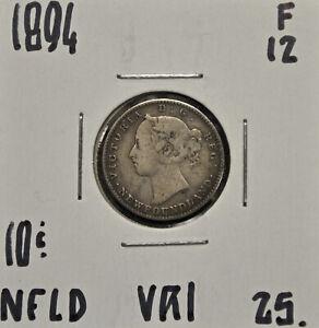 1894-Newfoundland-10-cents-F-12