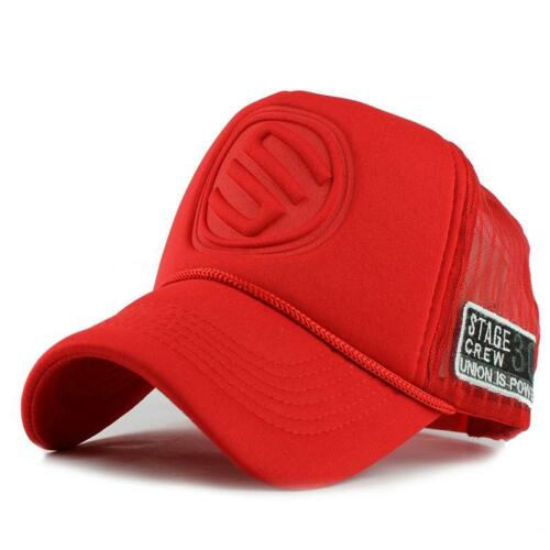 Baseball Hat Red Black Cotton Snapback Chapeau Gorras Hip Hop Hat Men Women Cap