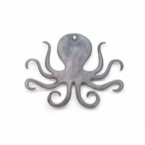 Octopus Metal Cut Ornament 4x4in