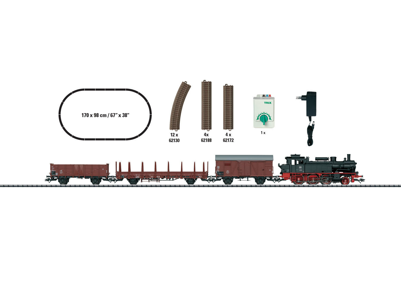 Trix 21530 Set de Iniciación Tren Mercancías Época III con Br 74 Db