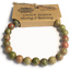 miniature 5 - Gemstone Beaded Power Bracelet Crystal Healing Protection Wealth Beneficial