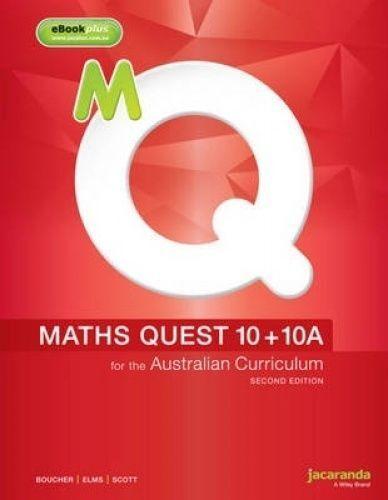 1 of 1 - Maths Quest 10+10a for the Australian Curriculum 2E & eBookPLUS by Kylie Boucher