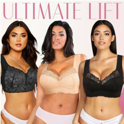 Free Shipping Details about  /Air Ultimate Lift Stretch Full-Figure Seamless Lace Cut-Out Bra