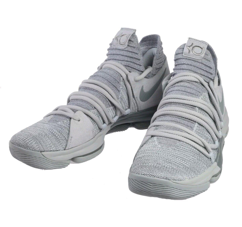 2018 Nike Zoom KD10 Wolf Cool Grey Sz 9.5 897815 007 Celebration WTKD DB BHM AS