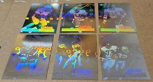 1991 Upper Deck NFL Football Game Breakers Holograms 6-Cards Lot Sanders/Allen