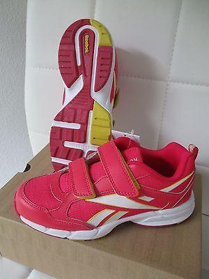Reebok Kinder Sport Sneakers Schuhe Halbschuhe Klett ALMOTIO pink Größe 34 NEU