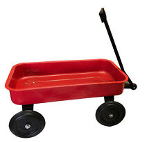 Classic Toy Red Metal Kids Wagon Long Reach Handle 51cm Large Steel Bed Gift