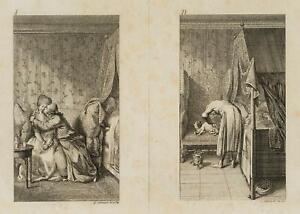 Chodowiecki (1726-1801). felicita coniugale sul divano & della gotta malati moroso 2