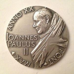 Medaglia-annuale-in-argento-Giovanni-Paolo-II-Anno-XX-Pont-Max