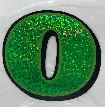 "3/"" UNIVERSAL NUMBER DECAL 0-9 GREEN FLAKE biltwell gringo lane splitter bonanza"