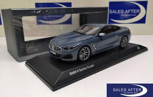 Original-miniatura-bmw-8er-g15-m850i-Coupe-barcelona-Blue-azul-1-18-maqueta-de-coche