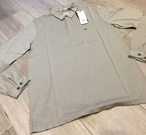 C-P-Company-Long-Sleeve-Mako-Cotton-Jersey-Polo-Shirt-in-Light-Olive-Brand-New