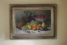 Antique Large E C Leavitt Oil Painting Signed Dated 1893 Rhode Island Artist